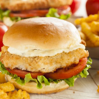 Wendy's Breaded Chicken Burger.