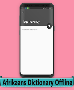 Afrikaans Dictionary Offline - náhled