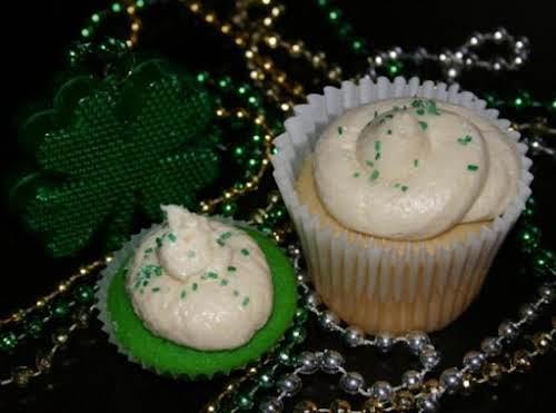 """Irish Cream Cupcakes """"Yes, yes Irish Cream the real stuff! Not just..."""