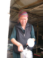 Photo: This woman made us some traditional Kazakh food for lunch.