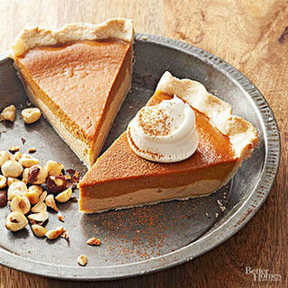 Dulce de Leche Pumpkin Pie with Hazelnut Crust