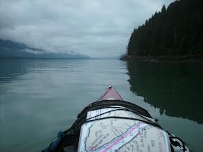 Photo: Looking northwest up Gastineau Channel toward Juneau.