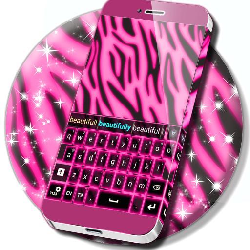 Zebra Keypad Neon