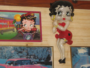 Photo: Betty Boop came by while we were there.