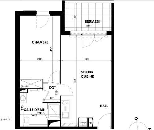 Vente appartement 2 pièces 46,4 m2