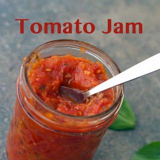 Sunset Tomato Jam from My Garden