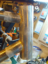 Photo: Head tube is tinned, just have to lay down some fillets.