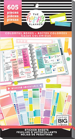 Me & My Big Ideas Happy Planner Sticker Value Pack - Colorful Boxes 605