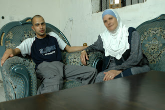 Photo: Nabila Sakhafi and her son Mousa, threatened with expulsion form their home