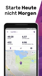 Laufen & Abnehmen - Joggen Gehen Walken my FIT APP Screenshot