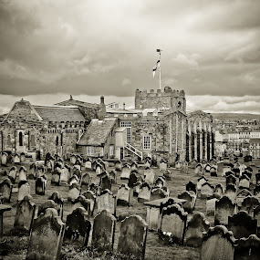 Hill Top Cemetery by Bryn Graves - Buildings & Architecture Places of Worship ( gothic, spooky, cemetery, whitby, architecture, mono )