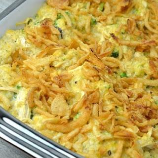 Chicken Broccoli Quinoa Casserole.