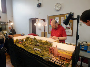 Photo: 007 Our first layout visit is to John Thorne's latest layout, Bottle Kiln Lane. Julian Evison is operating in this view .