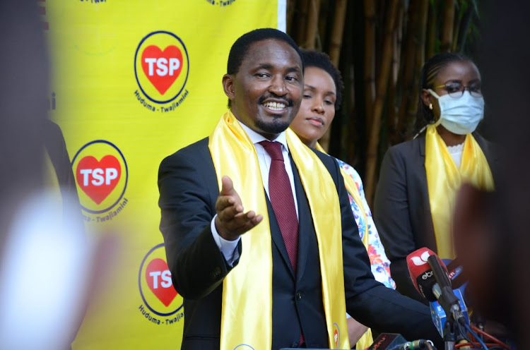 TSP party leader Mwangi Kiunjuri during the unveiling of his new party at Riverside Drive, Nairobi, on June 24, 2020.