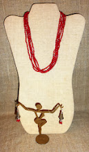 Photo: <BEREHYNYA> {Great Goddess Protectress} unique one-of-a-kind statement jewellery by Luba Bilash ART & ADORNMENT  # 134 ANGELSONG ~ МЕЛОДІЯ АНГЕЛІВ - coral, sterling silver, silver plate $100/set SOLD/ПРОДАНИЙ