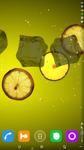 Lemon juice live wallpapers screenshot
