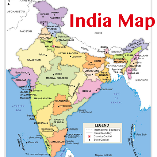 Where Is India On The Map India Map & Capitals   Apps on Google Play
