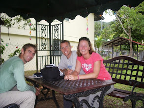 Photo: Sitting outside a local house waiting for their fresh pineapple yoghurt...yummy!