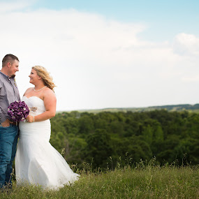 Bride & Groom by Jennifer Mize - Wedding Bride & Groom ( oklahoma, country wedding, bride and groom, scenic, country )