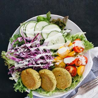 Baked Falafel Salad Bowl