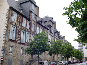 Photo: The large timbered 17th century homes on the Place des Lices were built for members of Parliament.
