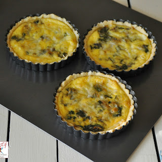 Spinach Onion and Comté Cheese Quiche
