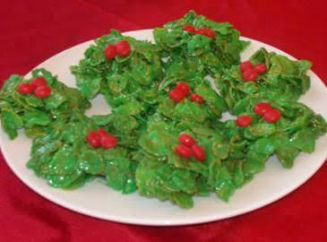 Christmas Holly Cookies (no Bake) Recipe