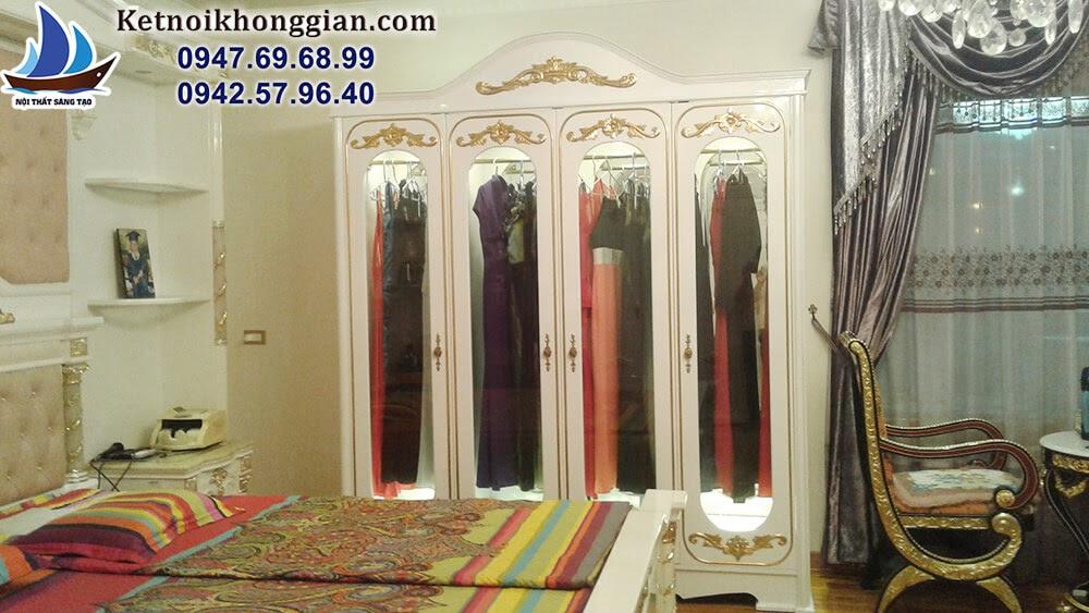 thiết kế nội thất phòng ngủ với mức độ hoàn thiện cao
