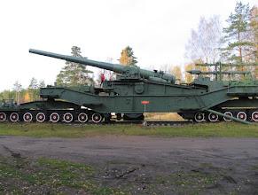 Photo: Железнодорожный артиллерийский транспортер ТМ-3-12 (305мм)