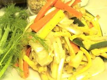 Grilled Matchstick Vegetables with Fennel Vinaigrette