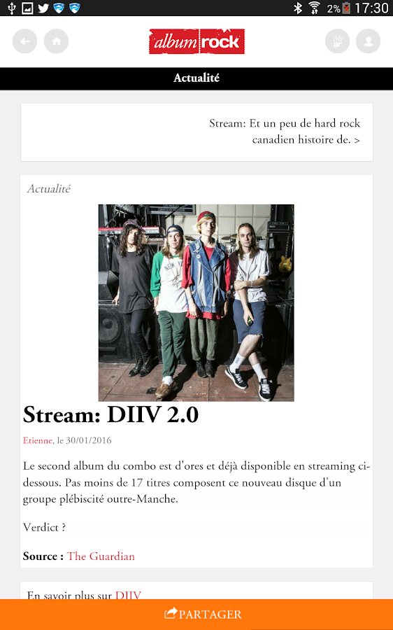Albumrock – Capture d'écran