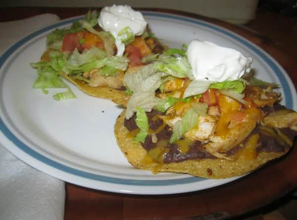 Easy Chicken Tostados