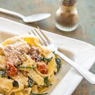 Creamy Chicken & Spinach Pasta.