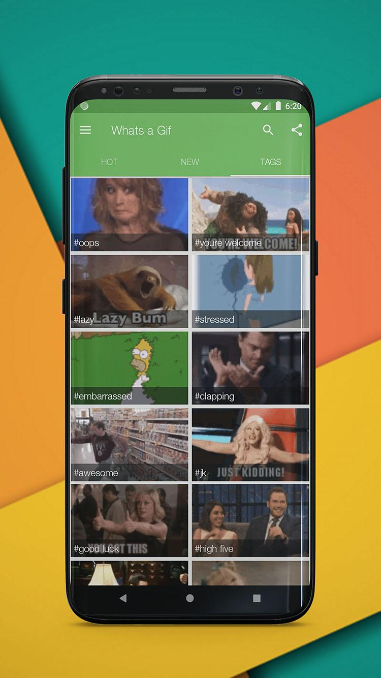 Скриншот Whats a Gif - GIFS Sender(Saver,Downloader, Share)