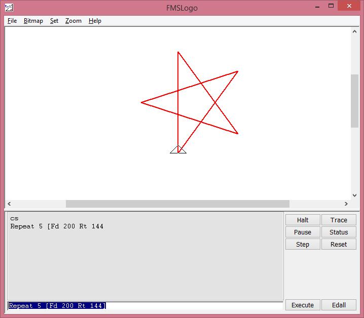 MSWLogo vẽ ngôi sao