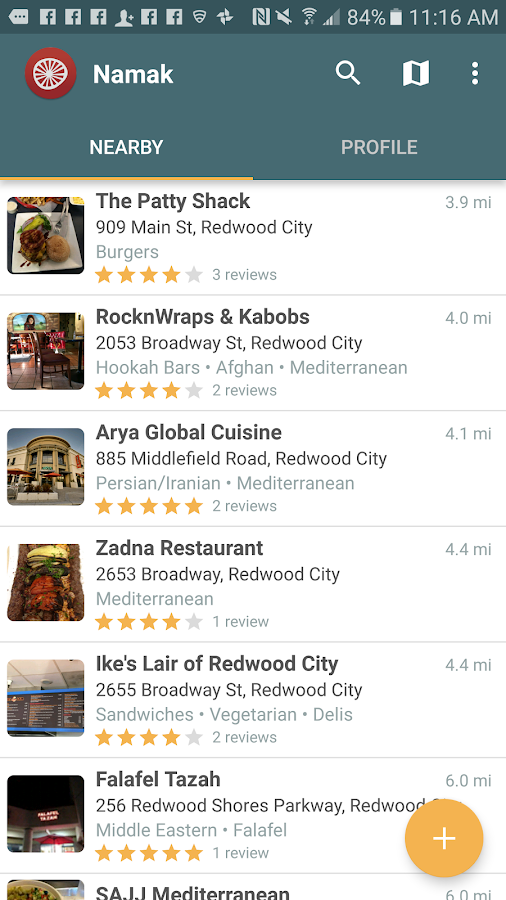 Namak - Halal Food Finder- screenshot