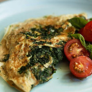 Egg White Omelette With Spinach.