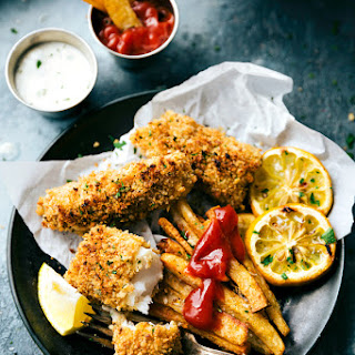ONE PAN Baked Fish and Chips.