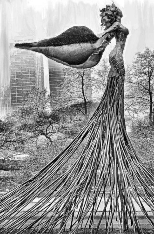 Angel by Andrea Ehmen - City,  Street & Park  Street Scenes ( angel, sculpture, statue, park, wings, chicago, city )