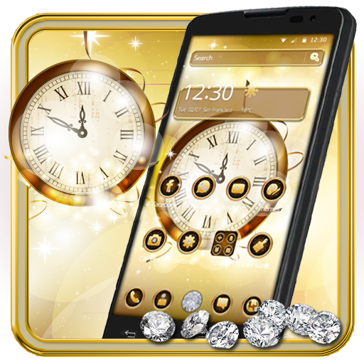 Gold Clock Diamond