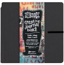 Dylusions Black Creative Journal 8X8