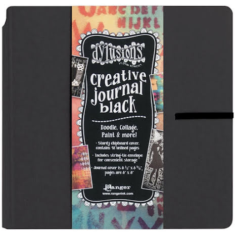 Dylusions Black Creative Journal 8X8