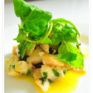 Butter-poached Tilapia With Parsley.