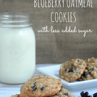 Blueberry Oatmeal Cookies with Less Added Sugar