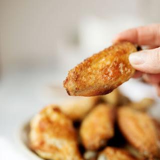 Crispy Oven Baked Lemon Garlic Chicken Wings Recipe