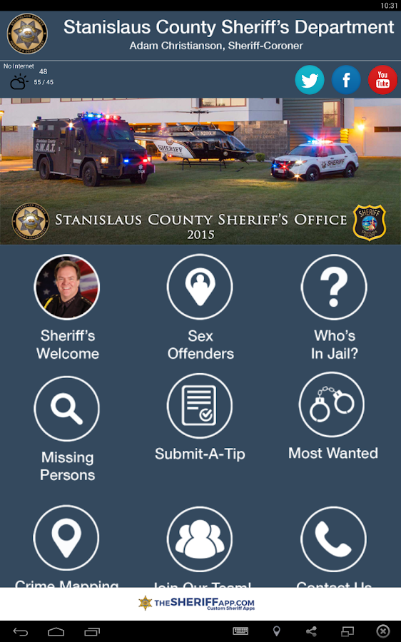 Stanislaus County Sheriff- screenshot
