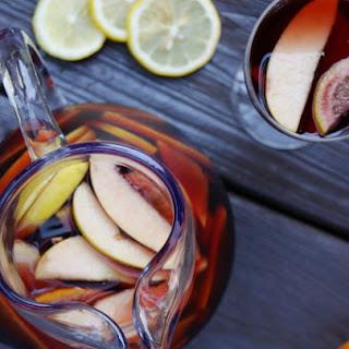 Sangria with Oranges, Lemons, & Apples.