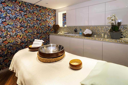 Head to the Massage and Beauty Salon to unwind after a day of exploring river towns during your AmaWaterways sailing.