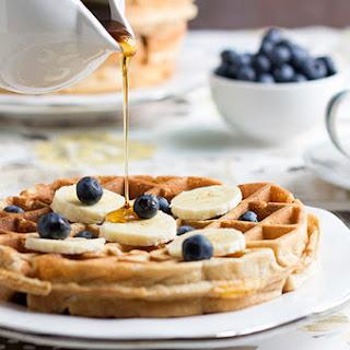 Healthy Banana Waffles