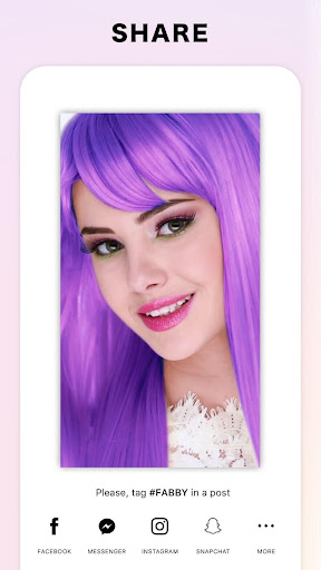 Fabby Look — hair color changer & style effects ss3
